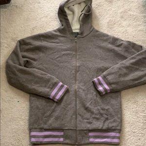 Stussy Lambswool Fleece Zip Up Hoodie. EUC L